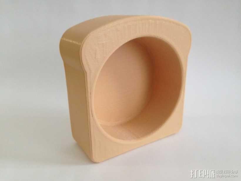 面包形杯托 3D模型  图1