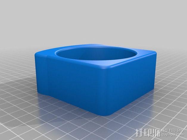面包形杯托 3D模型  图2