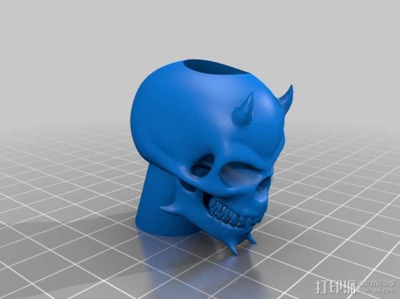 骷髅头电子香烟套件 3D模型  图2