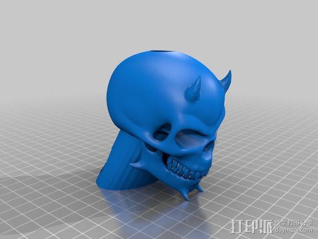 骷髅头电子香烟套件 3D模型  图3