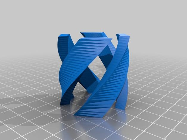 双螺旋玻璃杯 3D模型  图2