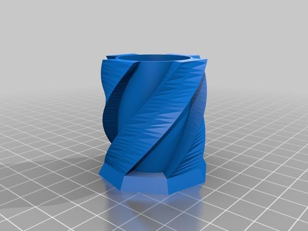 双螺旋玻璃杯 3D模型  图3