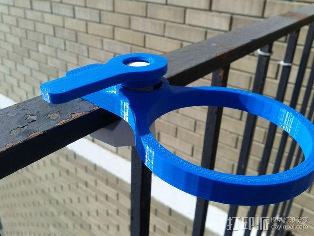 便携式杯架 3D模型  图1