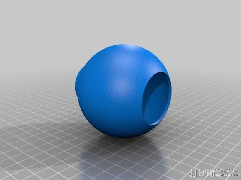 荷兰古典灯罩 3D模型  图3