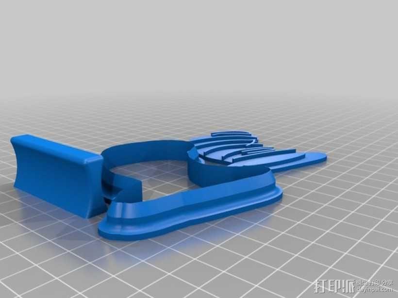 高礼帽 饼干制作模具 3D模型  图2