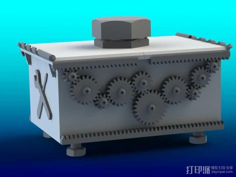 变速齿轮箱 3D模型  图1