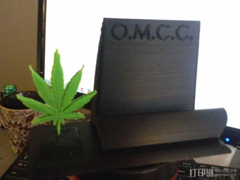 医用大麻叶 名片架 3D模型  图1