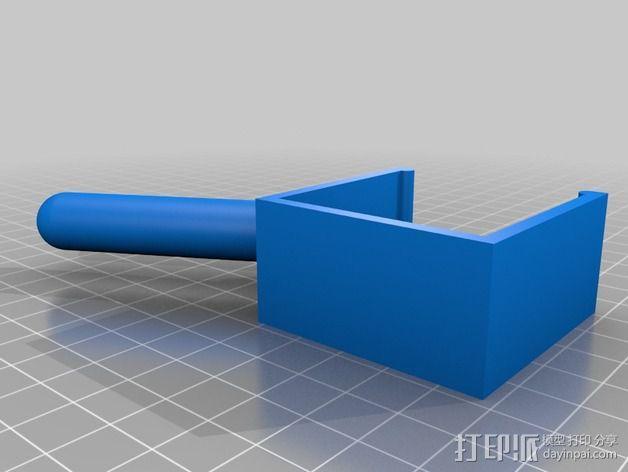 宜家儿童床挂钩 3D模型  图1