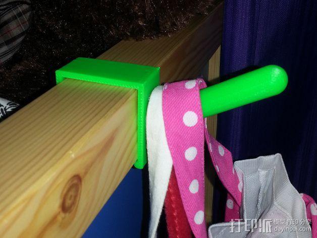 宜家儿童床挂钩 3D模型  图3