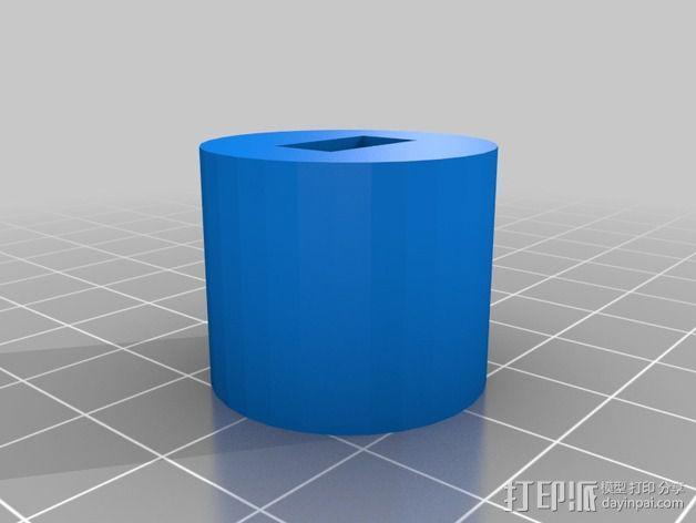 壁挂式沐浴用品架 3D模型  图2