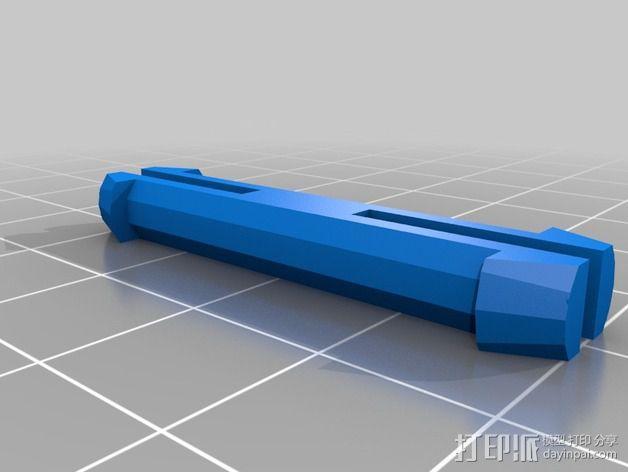 壁挂式沐浴用品架 3D模型  图4