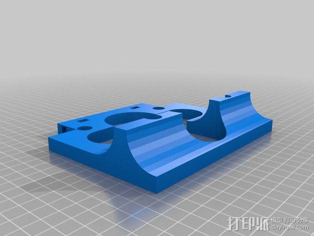 壁挂式沐浴用品架 3D模型  图5