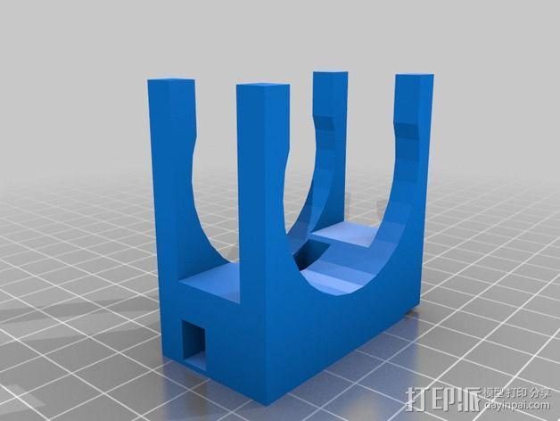 壁挂式沐浴用品架 3D模型  图3