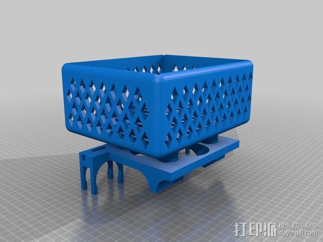 壁挂式沐浴用品架 3D模型  图6