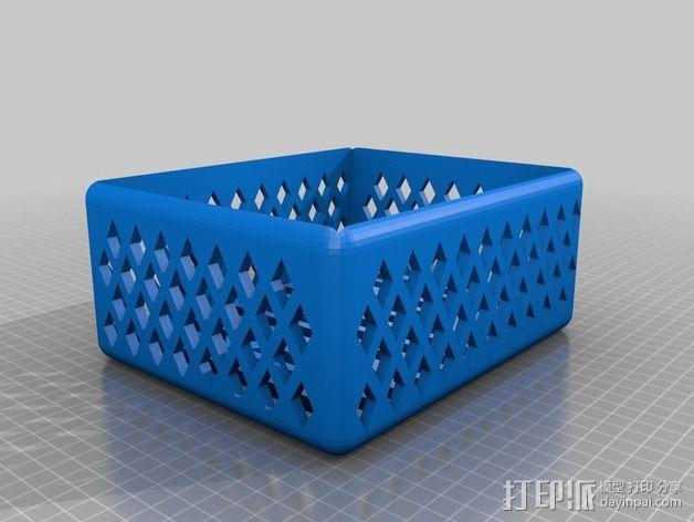 壁挂式沐浴用品架 3D模型  图7