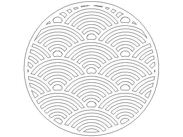 Seigaiha木质三脚架 3D模型  图2