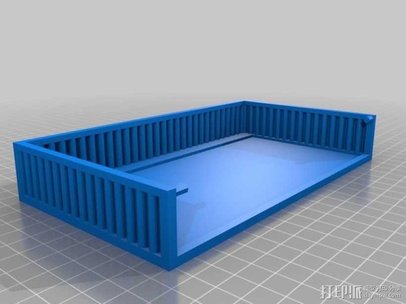 迷你方形小盒 3D模型  图2