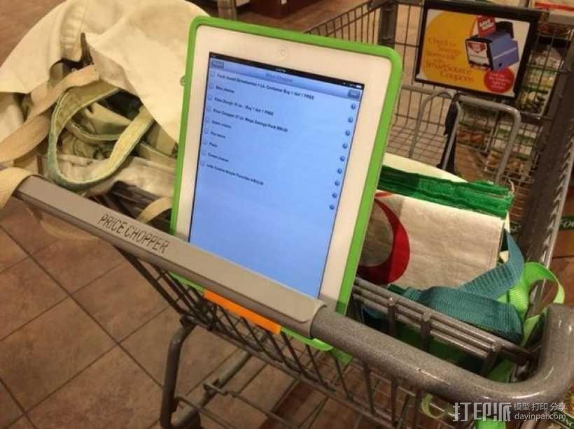 购物车平板电脑支架 3D模型  图1