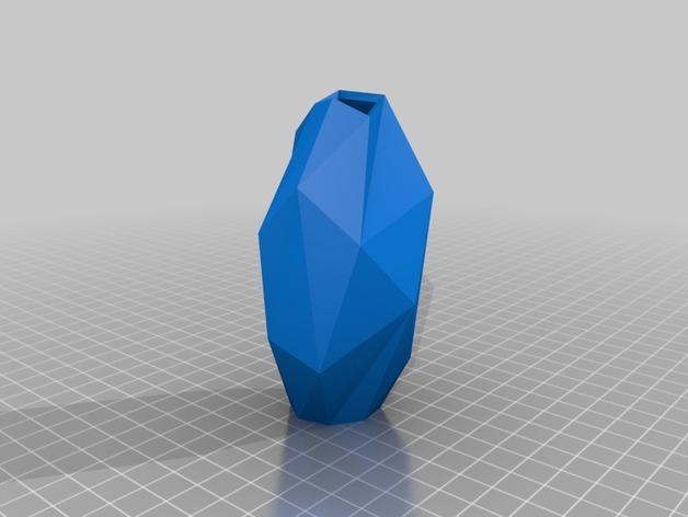 低面数花瓶 3D模型  图3