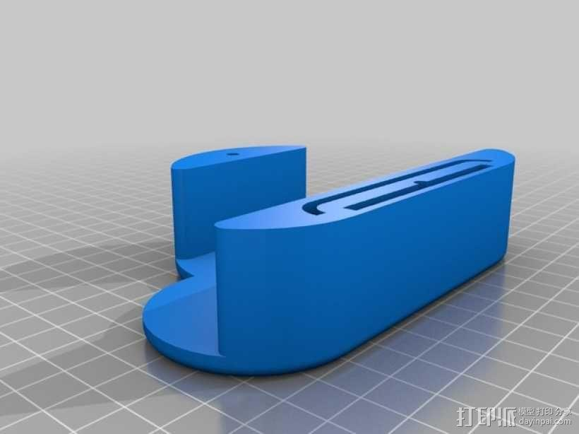白云形磁力钥匙架 3D模型  图2