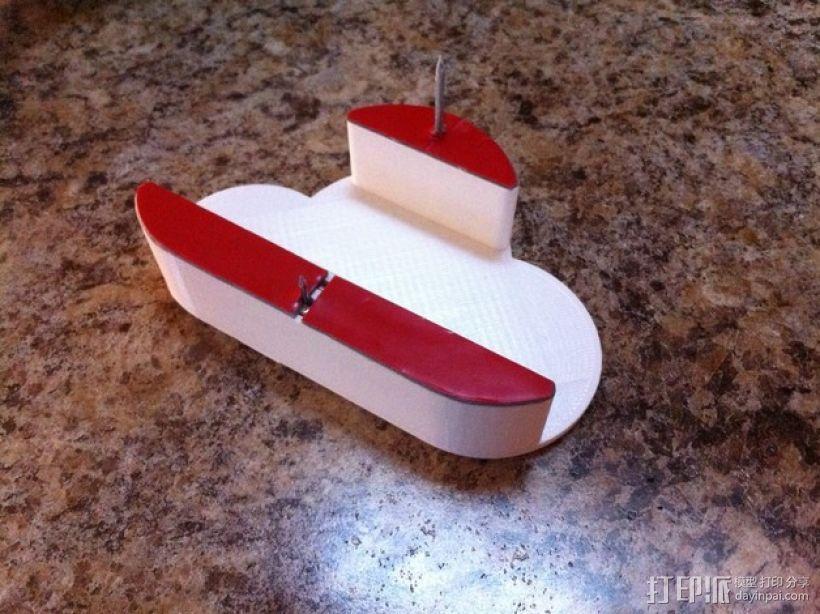 白云形磁力钥匙架 3D模型  图4
