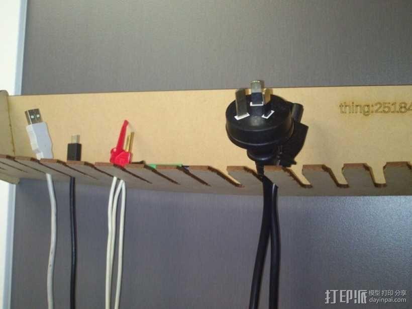 定制化激光切割电缆支架 3D模型  图1