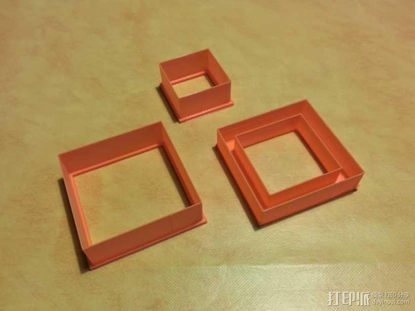 正方形饼干制作模具 3D模型  图1