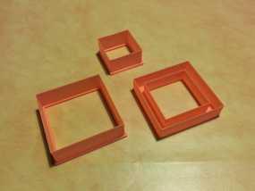 正方形饼干制作模具 3D模型