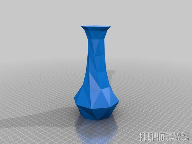 螺旋八角形花瓶 3D模型  图2