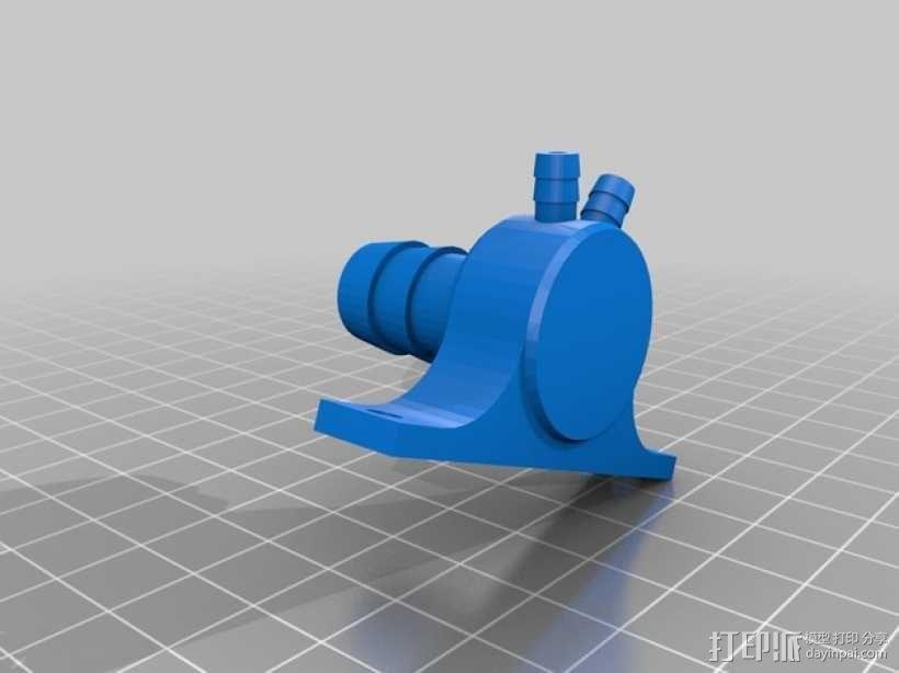 软管分流器 3D模型  图2