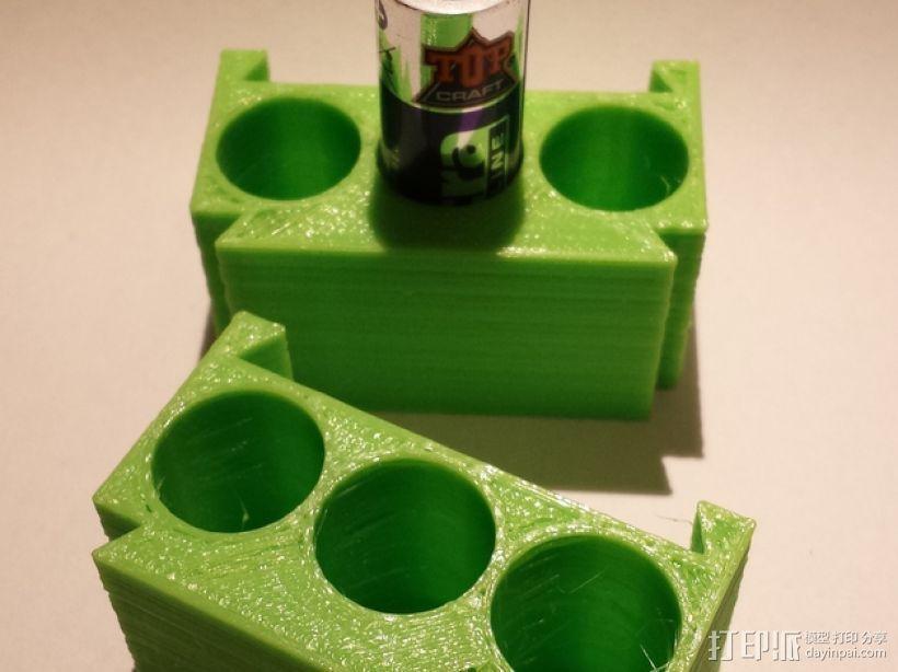 AA模块化电池盒 3D模型  图1