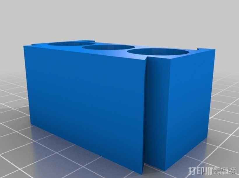 AA模块化电池盒 3D模型  图4