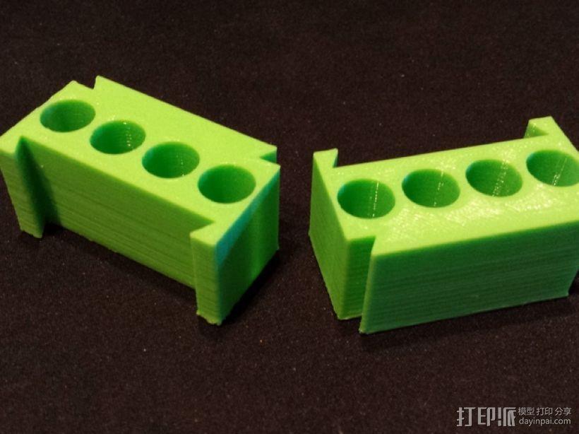 AAA模块化电池盒 3D模型  图1