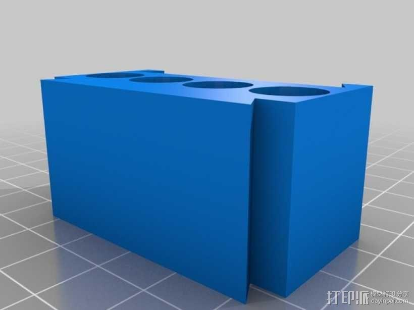 AAA模块化电池盒 3D模型  图2