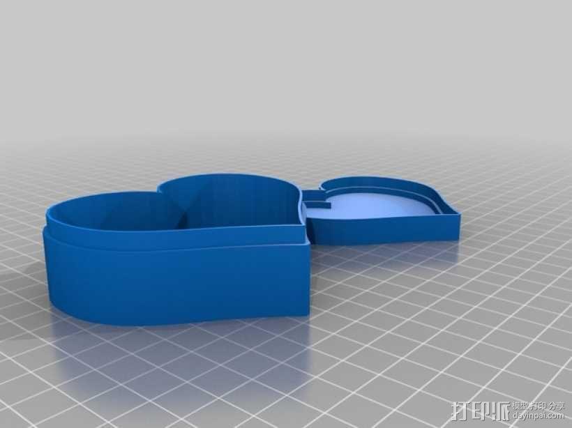 心形礼物盒 3D模型  图1