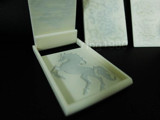 个性化名片盒 3D模型  图4