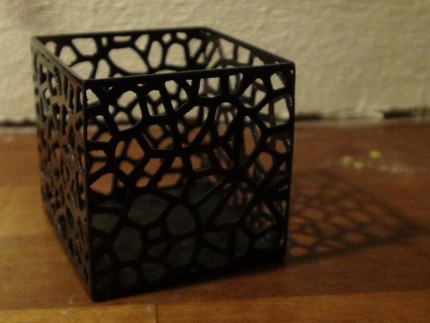 多边形镂空茶灯灯罩 3D模型  图3
