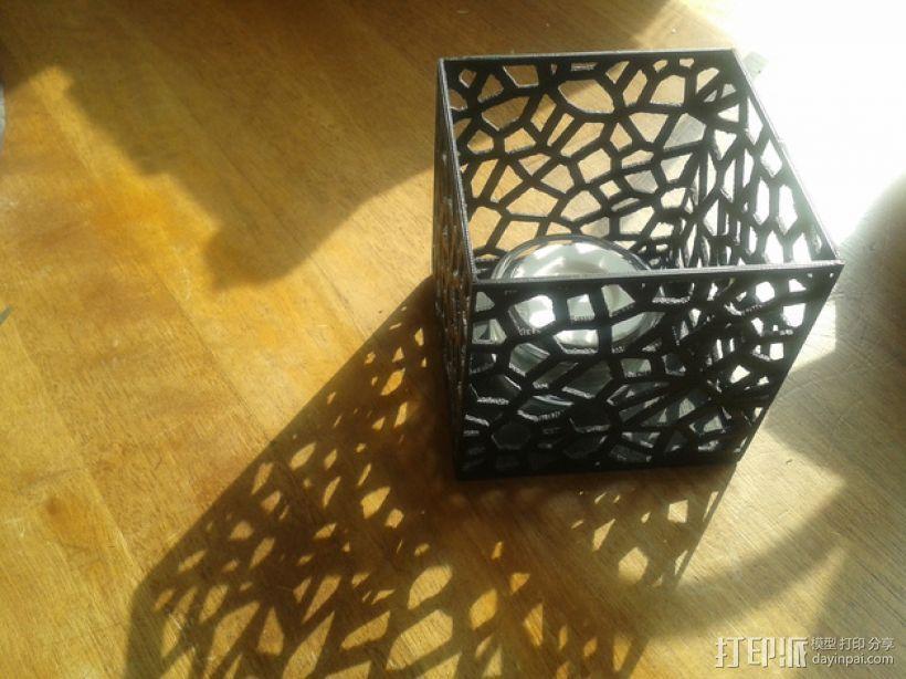 多边形镂空茶灯灯罩 3D模型  图1