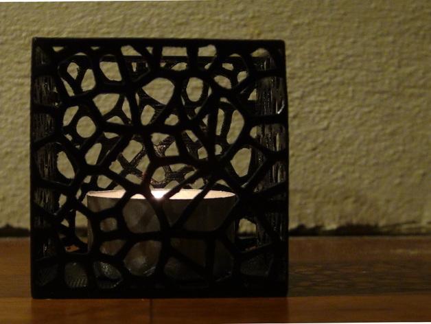 多边形镂空茶灯灯罩 3D模型  图2