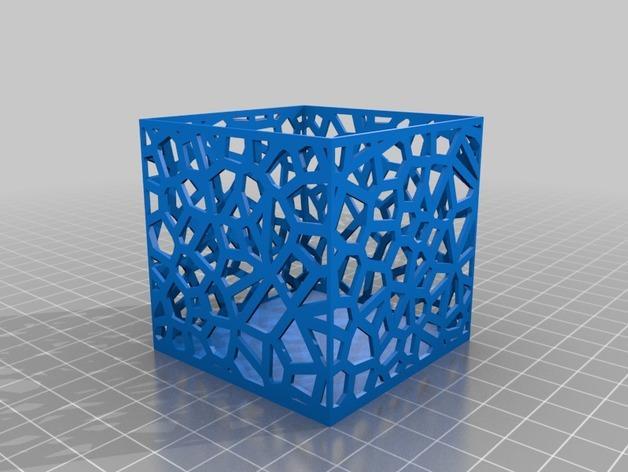 多边形镂空茶灯灯罩 3D模型  图5