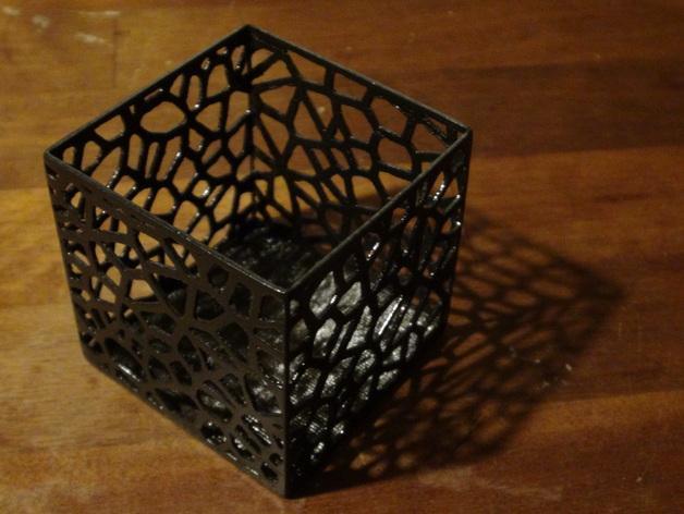 多边形镂空茶灯灯罩 3D模型  图4