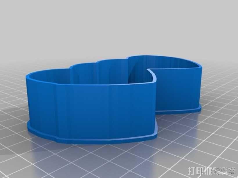 心连心 饼干制作模具 3D模型  图1