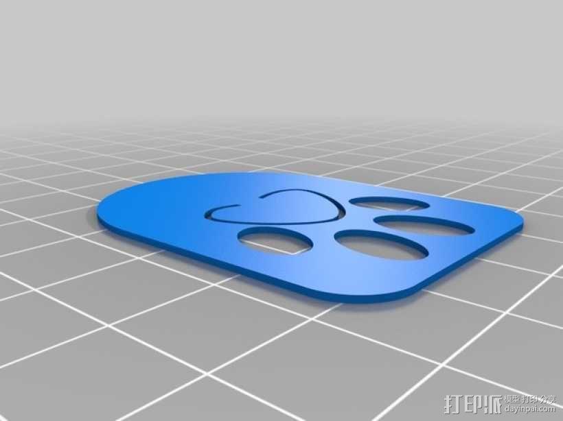 爪形书签/回形针 3D模型  图3