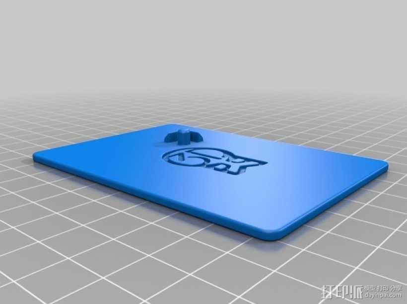 简易展示板 3D模型  图2