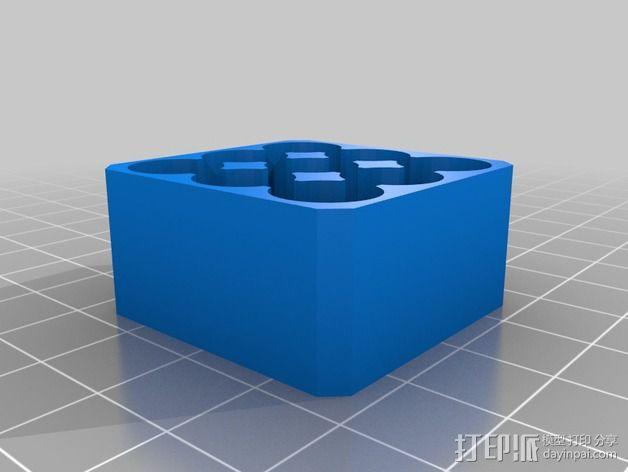 AAA电池架 3D模型  图2