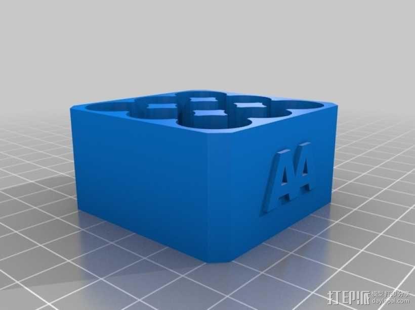 AA电池架 3D模型  图2