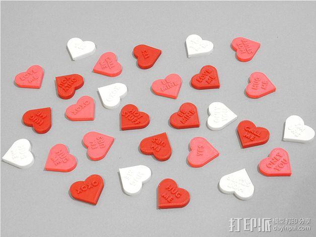 个性化心形装饰品 3D模型  图5