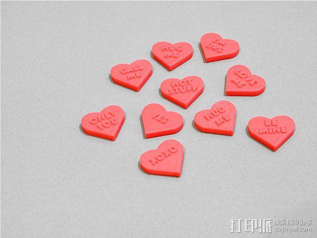 个性化心形装饰品 3D模型  图4