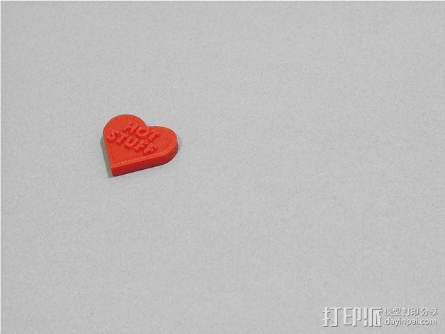 个性化心形装饰品 3D模型  图7