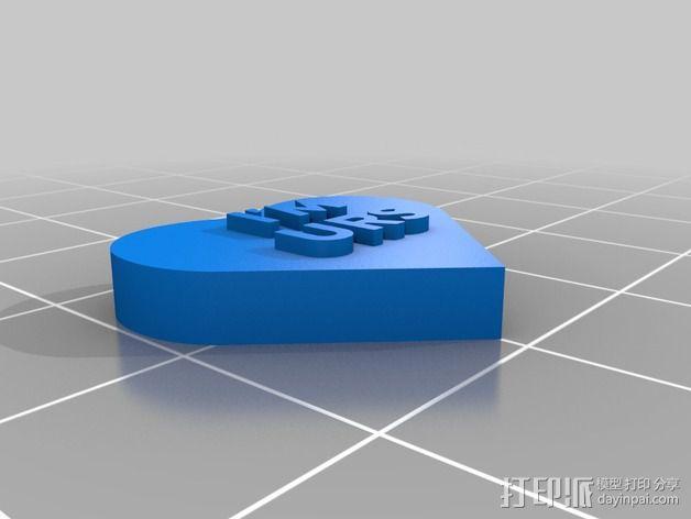 个性化心形装饰品 3D模型  图12